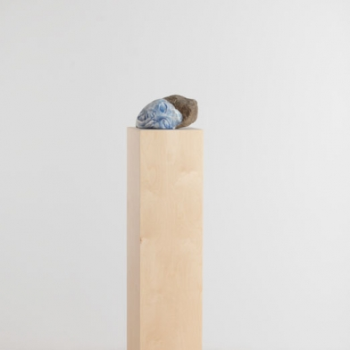 Untitled, 2014. Colored pencil, clay, paper, stone, wood.  62x11x11 in - 157.5x28x28 cm